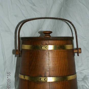 Vintage Firkin Tobacco Bucket - Tobacciana