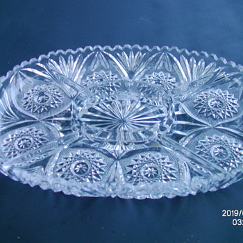 Very Heavy 4 part (5 part?) dip/serving tray. Unknown. - Glassware