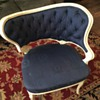 Vintage white and blue fly chair