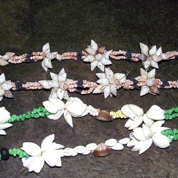 1973-sea shells from suva in fiji.--necklaces.