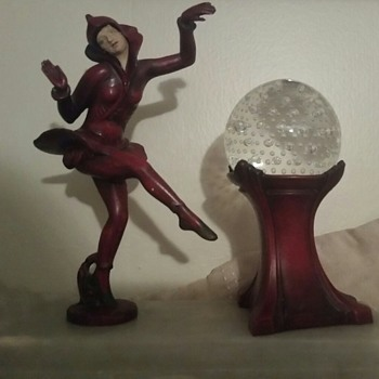 Ballet figurine with crystal ball light - Figurines