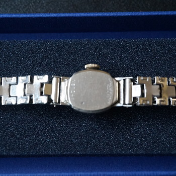 Vintage Bulova Rhapsody White Gold Ladies Wristwatch - Wristwatches