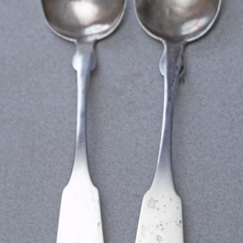 Coin silver spoons from family, Ebenezer Knowlton Lakeman - Silver