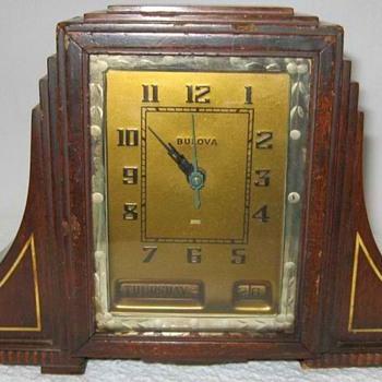 Bulova Art Deco Skyscraper Mantle Clock, Model 1107, 1930's