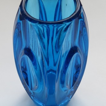 Czech Art Glass Bullet Vase - Art Glass