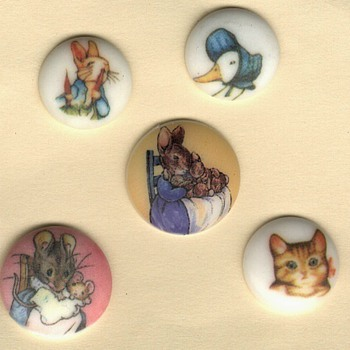 Beatrix Potter buttons - Sewing