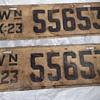 1923 Washington State License Plates
