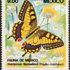 """Mexico - """"Butterfly"""" Postage Stamp"""