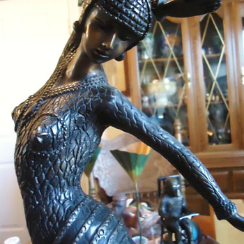 Bronze!  Dancing Woman!!  23 inches and 15 pounds!  pretty - Art Deco