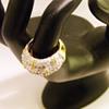 Vintage Joseph Mazer Pavé Rhinestone Ring