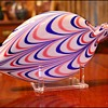 """Pittsburgh Glass 1876 Centennial """"Nailsea"""" Flask"""