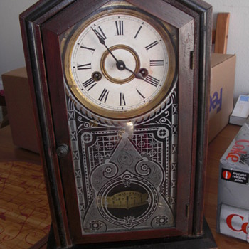 VINTAGE ANSONIA CLOCK. NEED HELP TO I.D. - Clocks