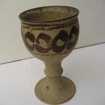 Chalice/Goblet without a makers mark. - Pottery
