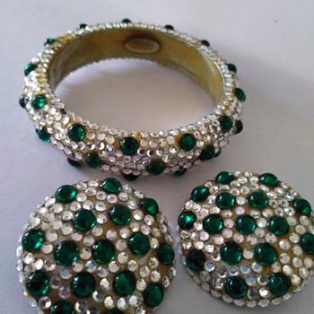 Barbara Groeger bracelet and earrings - Costume Jewelry