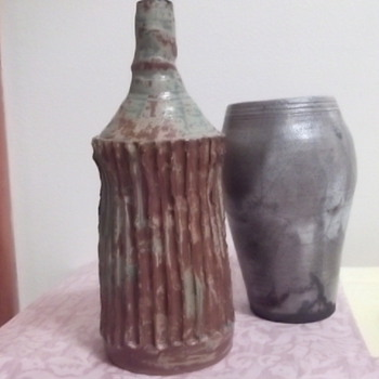 Pottery Vases Collection - All 5 Signed Schiff?  - Pottery