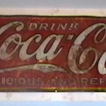 1934 Coca-Cola Delicious and Refreshing Sign