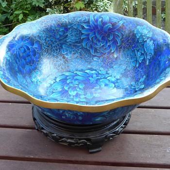 Large Cloisonne Bowl - Jingfa Label - Asian