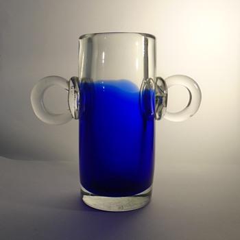 Pavel Jezek 7419 'big eared' art glass vase -- Skrdlovice glassworks 1974 -- Czech art glass - Art Glass