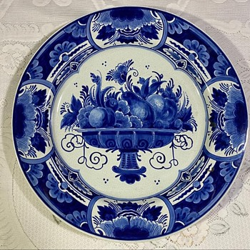 Blue Delft Wall Plate  - Asian