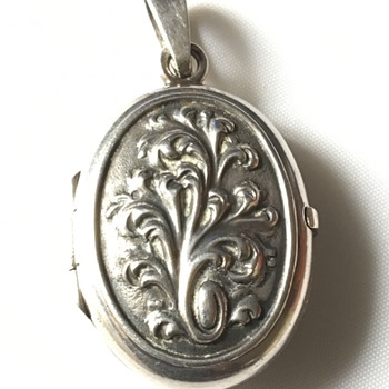 Silver photo locket  - Silver