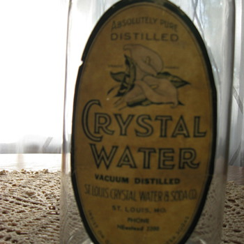 Antique St. Louis Crystal Water and Soda CO. Bottle