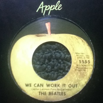 "The Beatles - ""We Can Work It Out"" & ""Day Tripper"" 45 Record"