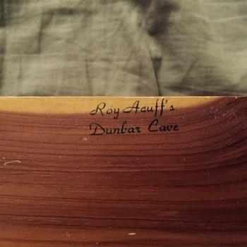 Roy Acuff's Dunbar Cave cedar box