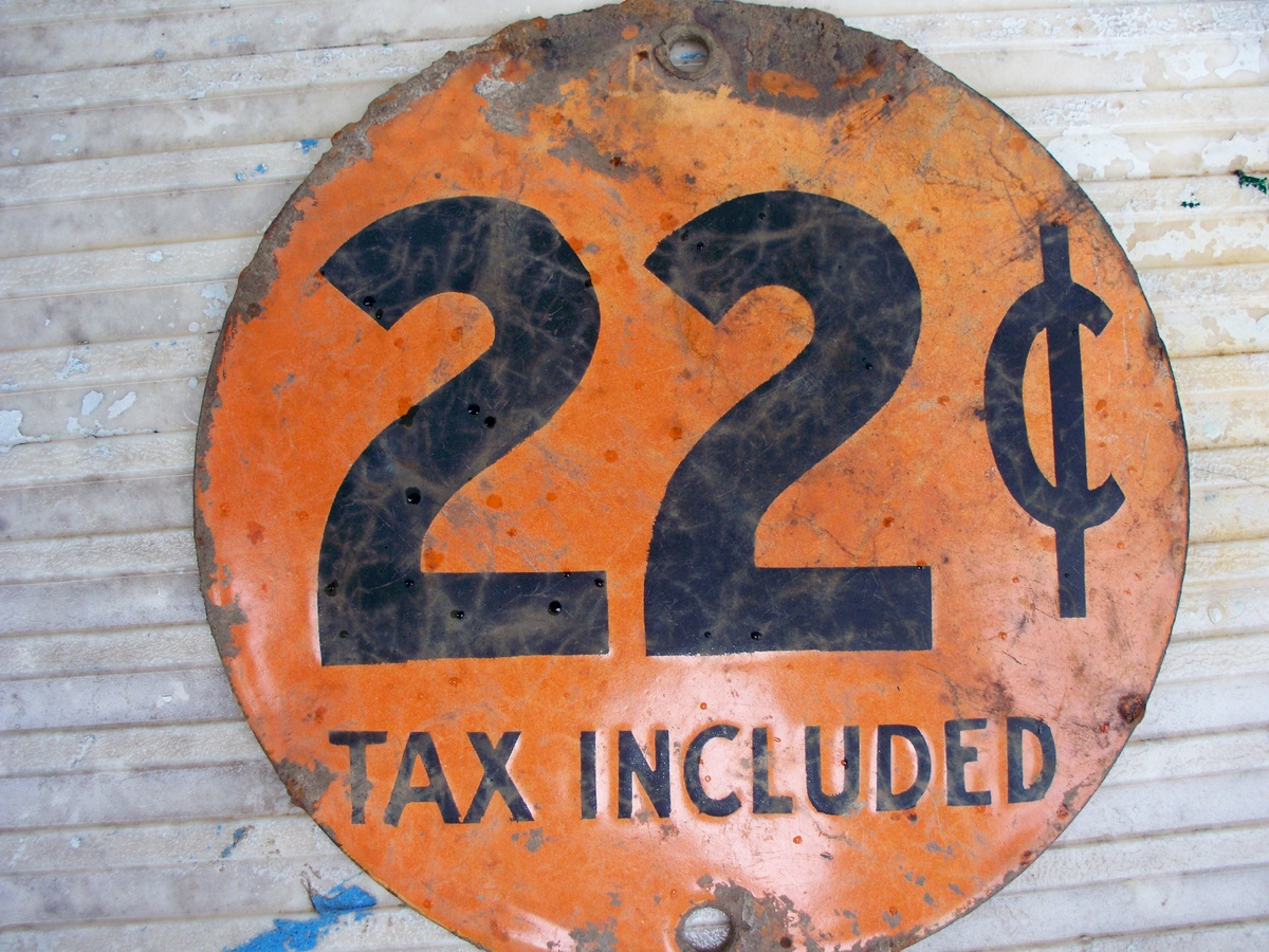 Old Round Disc 22 Cent Incl Tax And 22 12 Cents Incl Tax On