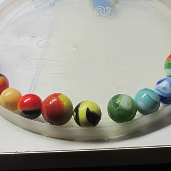 Glass marbles collection