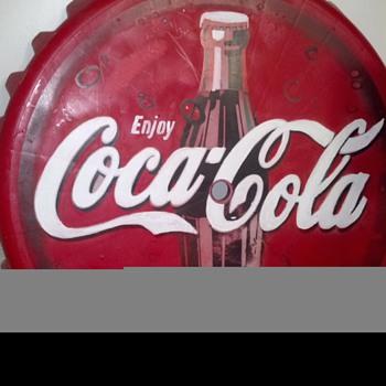 my bottle cap patio table - Coca-Cola