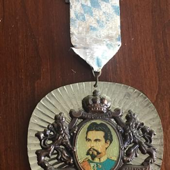 Vintage King Ludwig German Badge Medal Award - Medals Pins and Badges