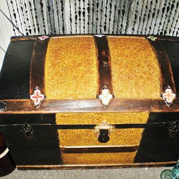 "Small ""Princess"" Steamer Trunk by Schmit Trunk Co., Oshkosh, WI - Furniture"