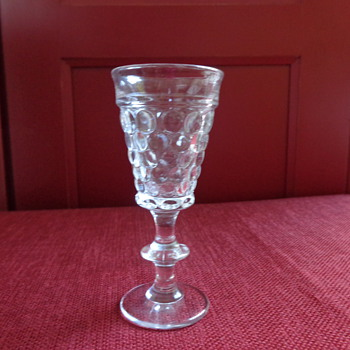 Vintage Pressed Bubble Sherry Glass - Glassware