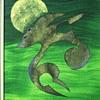 "Acrylic on Board 1 of 2""Wolf Spirit and Golden Sun""Russel Noganosh,Circa 1980-90"