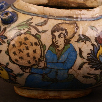 Antique Pottery Unsigned Arabic ?  - Pottery