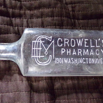 Crowell's Pharmacy, New York  - Bottles