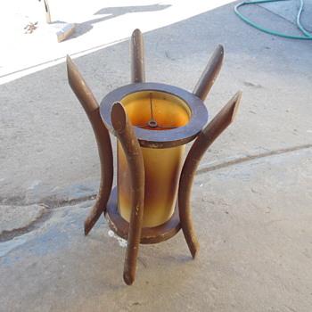 Old Adirondack Style Lamp Shade