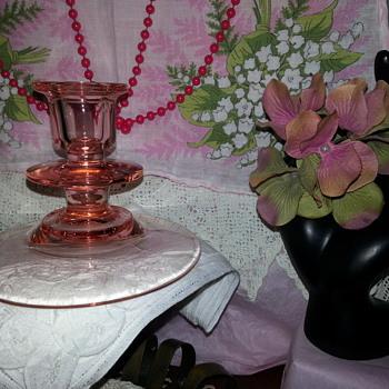Single Light Candlestick - Glassware
