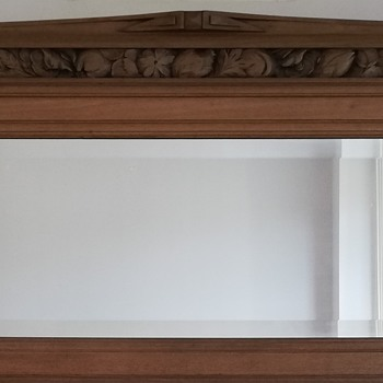 Carved Mirror from a French Sideboard - Furniture
