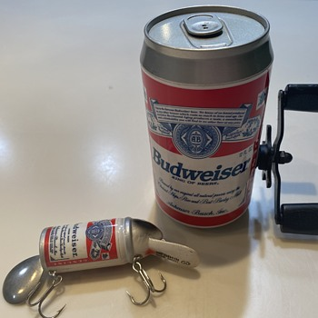 Budweiser fishing reel and lore - Breweriana