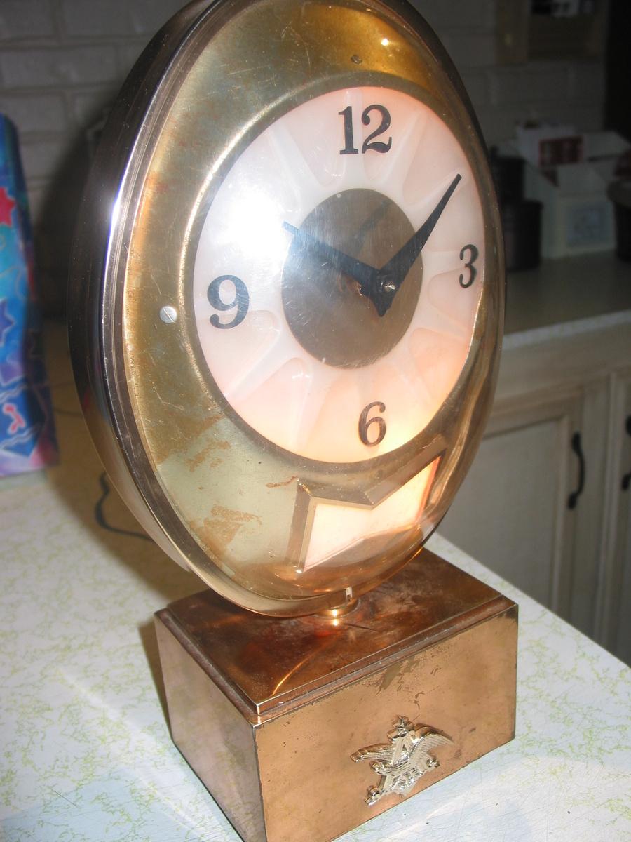 budweiser lighted clocks