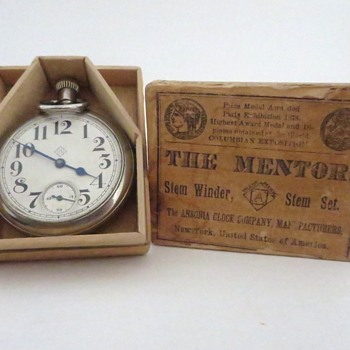Ansonia Pocket Watch in Wooden Box Part 2 - Pocket Watches
