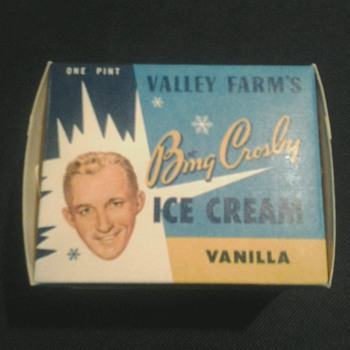 Bing Crosby Ice Cream Container - Advertising