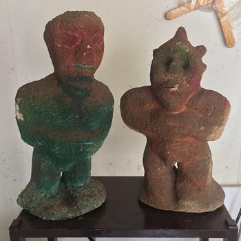 Morocco volcanic ash statues 1970-ish ??? - Fine Art