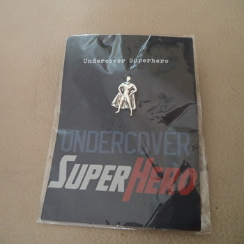 Lapel Pin - Undercover SuperHero - Medals Pins and Badges