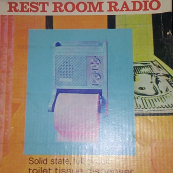 1980's BATHROOM RADIO/TOILET PAPER HOLDER - Radios