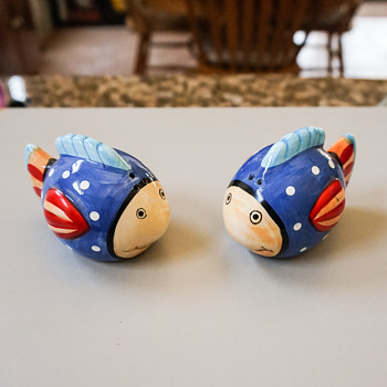 Colorful Fish Salt and Pepper Shakers - Kitchen