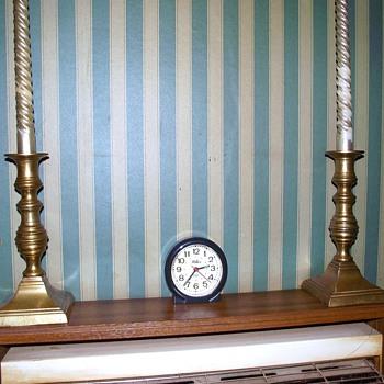 brass candlesticks--1930s?