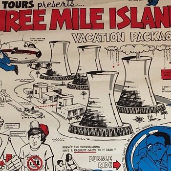 NRC Three Mile Island Nuclear Recreation Poster....by Mr. Radiation 1979 - Posters and Prints