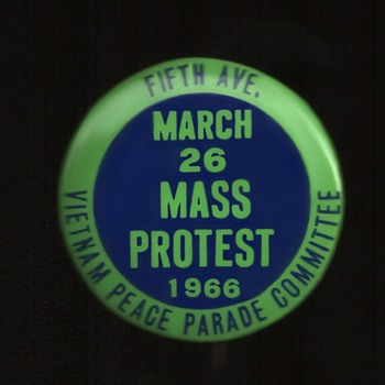 Vietnam Peace Parade Committee pinback button